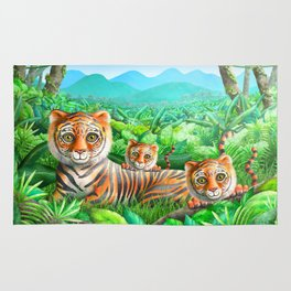 Tiger and Cubs Rug