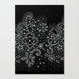 B&W Lace Canvas Print