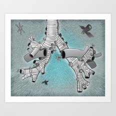 Trachea et Bronchi B Art Print