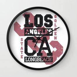 Artistic Los Angeles Area Code 323 California Gift LA Gift Wall Clock