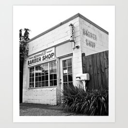 Norma's Barber Shop Art Print