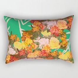 TROPICAL FLOWER LEOPARD SPOT ISLAND PATTERN Rectangular Pillow