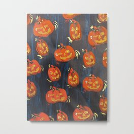 Floating Jacks (Navy) Metal Print