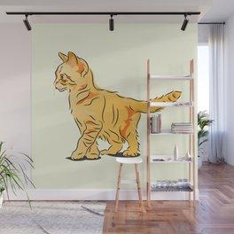 Tabby Kitten Wall Mural