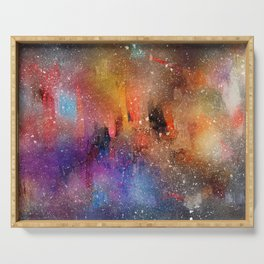 Colorful Abstract Watercolor Serving Tray
