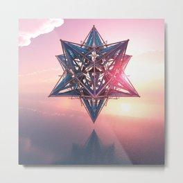Metatron's cube - Tetrahedron - 3D Merkaba - Sacred Geometry - Manafold Art Metal Print