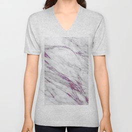 Gray and Ultra Violet Marble Agate Unisex V-Neck