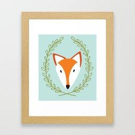 f o x Framed Art Print