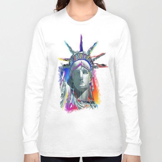 colorful liberty Long Sleeve T-shirt