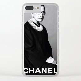 Notorious RBG Black And White Clear iPhone Case