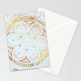 power of one: powder blue + copper Stationery Cards