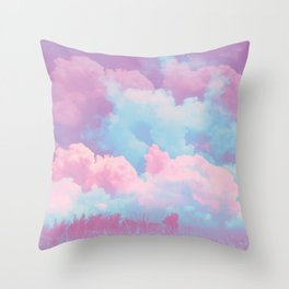 Pink cloud Throw Pillow