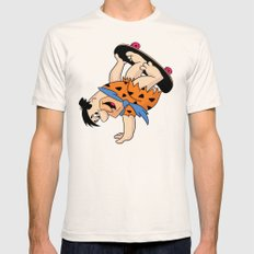Shred Flintstone Mens Fitted Tee SMALL Natural