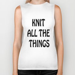 Knit All the Things in Black Biker Tank