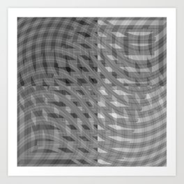 Crazy greylines 2 Art Print