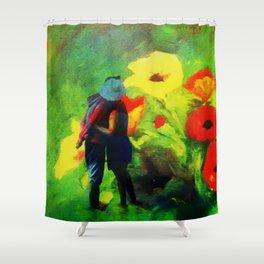 Dans les fleurs Shower Curtain