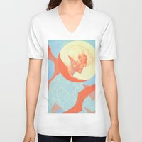 dragon age V-neck T-shirts featuring Dragon Age: Fenris by Couple Of Kooks