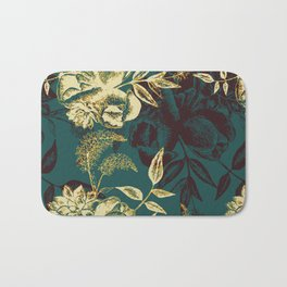 Illustrations of Florals Bath Mat