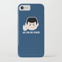 spock iPhone & iPod Cases featuring Star trek vulcan llap Spock by spaceita