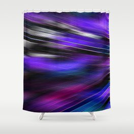 Re-Created  Feather ix by Robert S. Lee Shower Curtain