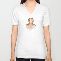 mozart V-neck T-shirts featuring Mozart by Arts and Herbs