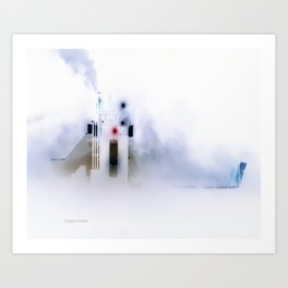 Iced Ferry 2 Art Print