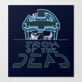 Tron Of The Dead Canvas Print