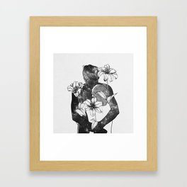 You are my flowery drug. Framed Art Print