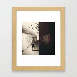 Exit Is Near Framed Art Print