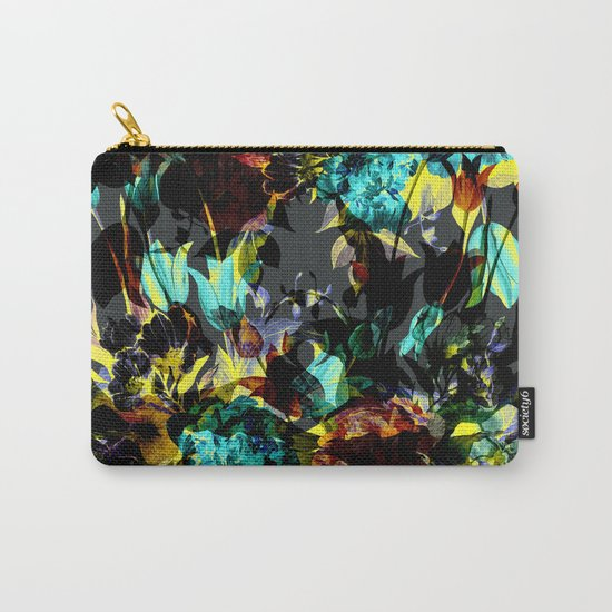 Seamless Abstract Flowers Pattern Carry-All Pouch