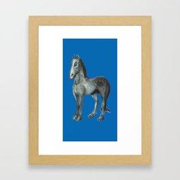 Noble Steed (blue) Framed Art Print
