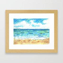 The Beach Front Framed Art Print