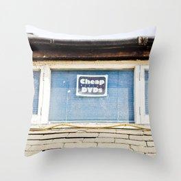 CHEAP DVD'S Throw Pillow