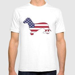 "Dachshund ""American Flag"" T-shirt"