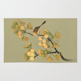 Bird in Ginkgo Tree Rug