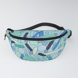 CIRCLES IN MOTION - GREEN/ BLUE Fanny Pack