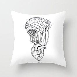Mind and spirit connection Throw Pillow