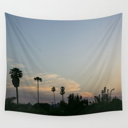 Venice Sunset (with Palm Trees) Wall Tapestry