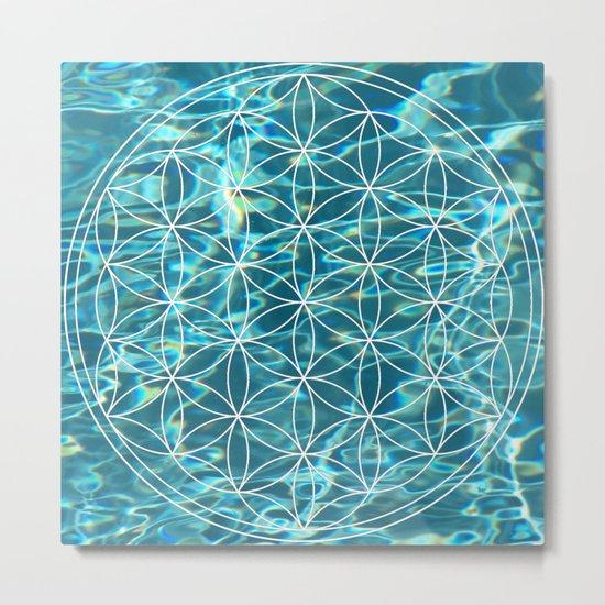 Flower of life in the water Metal Print