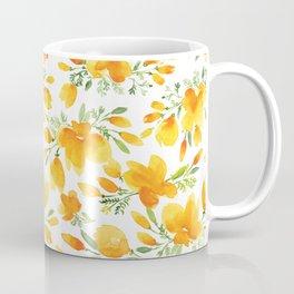 Watercolor california poppies bouquet Coffee Mug