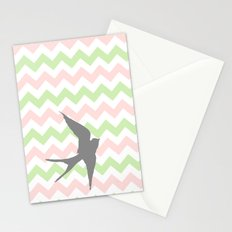 Chevron a Whim Stationery Cards