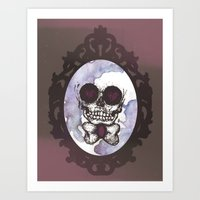 lucas david Art Prints featuring Lucas by Gaab D'Amato