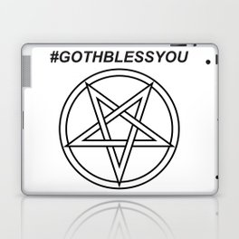 #GOTHBLESSYOU INVERTED INVERSE Laptop & iPad Skin