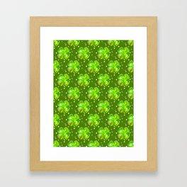 Lucky Shamrocks Framed Art Print