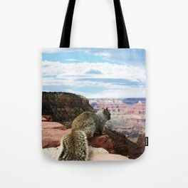 Squirrel Overlooking Grand Canyon Tote Bag