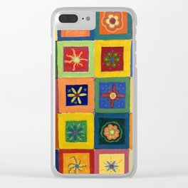 Flower Power - Acrylic Painting Clear iPhone Case