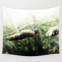 grass Wall Tapestries featuring grass by emegi