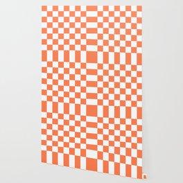Checker (Coral/White) Wallpaper