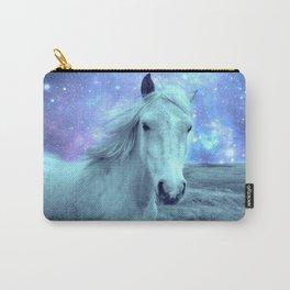 Celestial Dreams Horse Periwinkle Lavender Aqua Carry-All Pouch