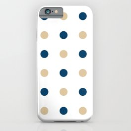 Blue and Gold Dots iPhone Case
